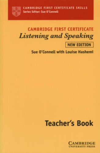 9780521779838: Cambridge First Certificate Listening and Speaking Teacher's book