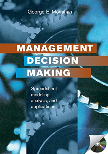 9780521781183: Management Decision Making: Spreadsheet Modeling, Analysis, and Application