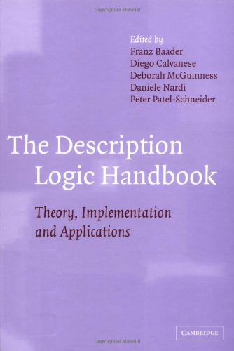 9780521781763: The Description Logic Handbook: Theory, Implementation and Applications