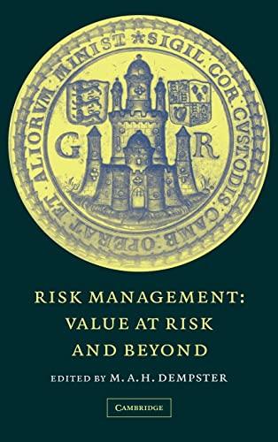 9780521781800: Risk Management: Value at Risk and Beyond