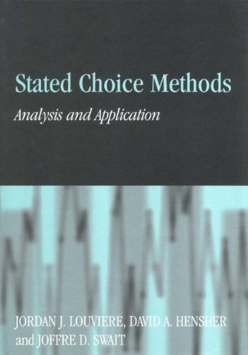 9780521782753: Stated Choice Methods: Analysis and Applications