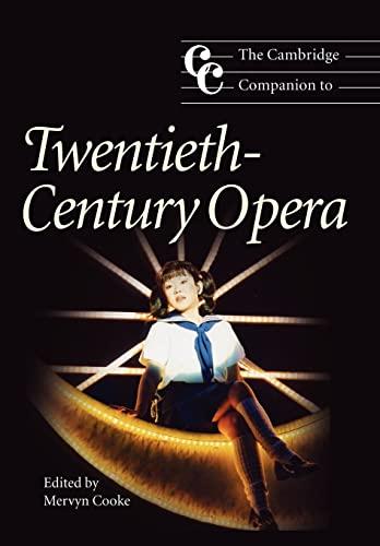 9780521783934: The Cambridge Companion to Twentieth-Century Opera (Cambridge Companions to Music)