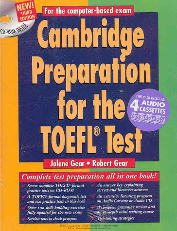 9780521783972: Cambridge Preparation for the TOEFL® Test Book with CD-ROM and Audio Cassettes pack