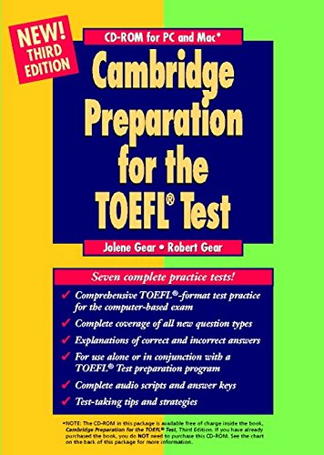 9780521783989: Cambridge Preparation for the TOEFL® Test CD-ROM (Cambridge Preparation for the TOEFL Test)