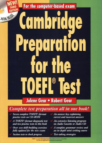 9780521784016: Cambridge Preparation for the TOEFL® Test Book with CD-ROM