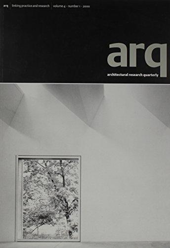 9780521784283: arq: Architectural Research Quarterly: Volume 4, Part 1 (v. 4)