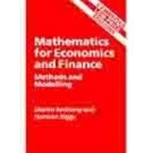 9780521785143: Mathematics for economics and finance: Methods and modelling (Cambridge low p...