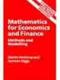 9780521785143: Mathematics for economics and finance: Methods and modelling (Cambridge low price editions)