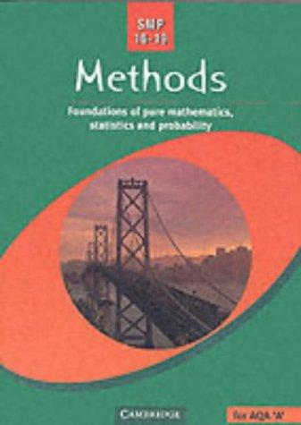 9780521787963: SMP 16-19 Methods: Foundations of Pure Mathematics, Statistics and Probability (School Mathematics Project 16-19)