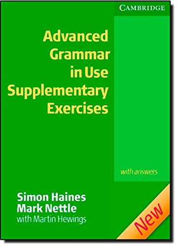 9780521788076: Advanced Grammar in Use Supplementary Exercises with Answers