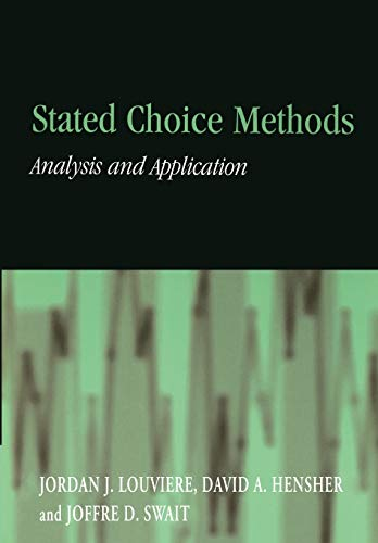 9780521788304: Stated Choice Methods: Analysis and Applications