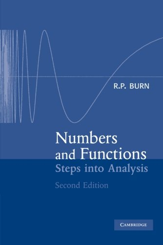 9780521788366: Numbers and Functions: Steps into Analysis