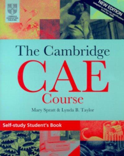 9780521788984: The Cambridge CAE Course Self-Study Student's Book