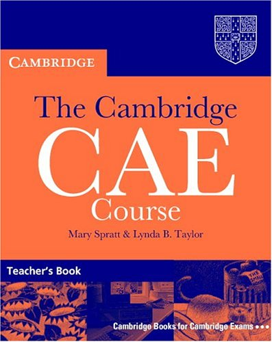 9780521788991: The Cambridge CAE Course Teacher's Book