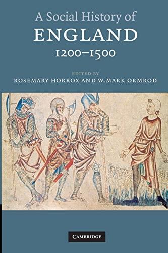 9780521789547: A Social History of England, 1200-1500