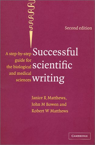 9780521789622: Successful Scientific Writing Full Canadian Binding: A Step-by-Step Guide for the Biological and Medical Sciences
