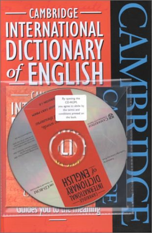 9780521789752: Cambridge International Dictionary of English Flexicover and CD-ROM Pack
