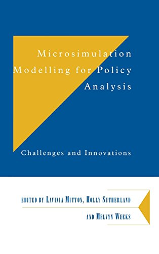 9780521790062: Microsimulation Modelling for Policy Analysis: Challenges and Innovations (Department of Applied Economics Occasional Papers)