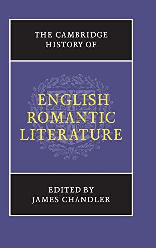 9780521790079: The Cambridge History of English Romantic Literature (The New Cambridge History of English Literature)