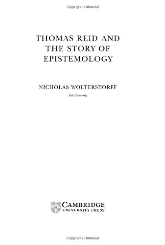 9780521790130: Thomas Reid and the Story of Epistemology (Modern European Philosophy)