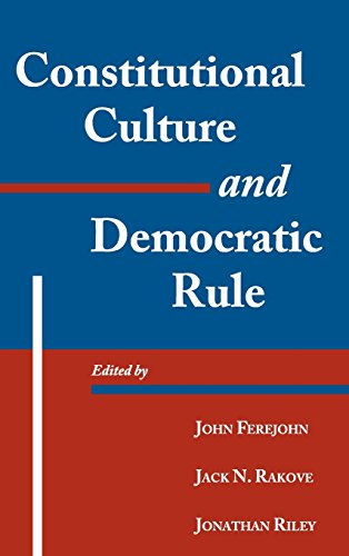 9780521790222: Constitutional Culture and Democratic Rule (Murphy Institute Studies in Political Economy)