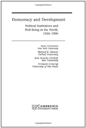 9780521790321: Democracy and Development: Political Institutions and Well-Being in the World, 1950-1990 (Cambridge Studies in the Theory of Democracy)
