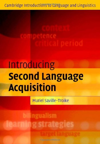 9780521790864: Introducing Second Language Acquisition (Cambridge Introductions to Language and Linguistics)