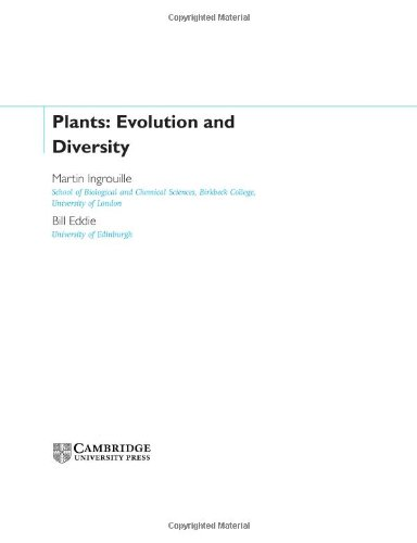 9780521790970: Plants: Diversity and Evolution