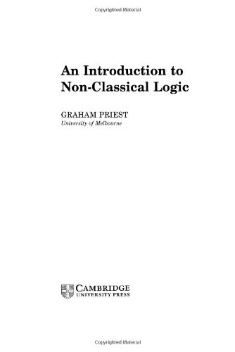 9780521790987: An Introduction to Non-Classical Logic