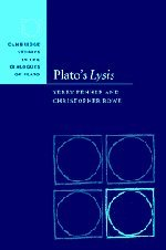 9780521791304: Plato's Lysis Hardback (Cambridge Studies in the Dialogues of Plato)