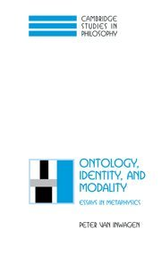 9780521791649: Ontology, Identity, and Modality Hardback: Essays in Metaphysics (Cambridge Studies in Philosophy)