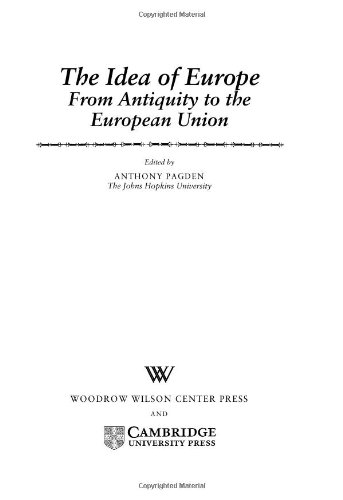 9780521791717: The Idea of Europe: From Antiquity to the European Union (Woodrow Wilson Center Press)
