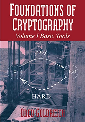 9780521791724: Foundations of Cryptography: Volume 1, Basic Tools (Vol 1)