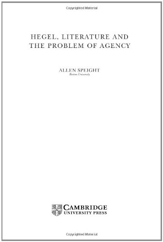9780521791847: Hegel, Literature, and the Problem of Agency (Modern European Philosophy)