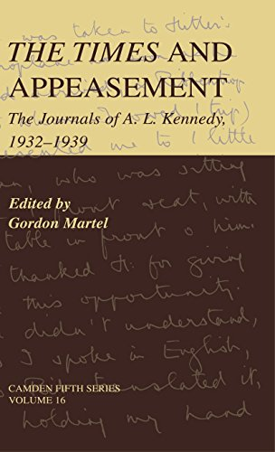 9780521793544: The Times and Appeasement: The Journals of A. L. Kennedy, 1932-1939 (Camden Fifth Series)