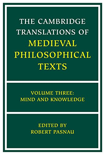 9780521793568: The Cambridge Translations of Medieval Philosophical Texts: Volume 3, Mind and Knowledge