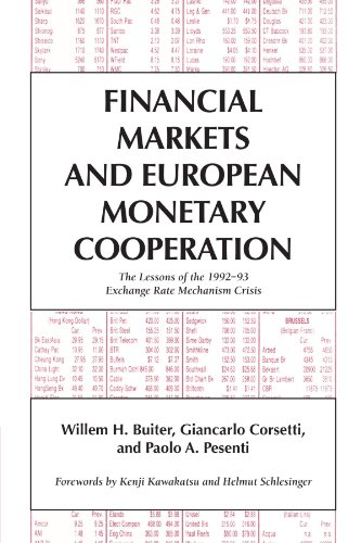 9780521794404: Financial Markets and European Monetary Cooperation: The Lessons of the 1992-93 Exchange Rate Mechanism Crisis (Japan-US Center UFJ Bank Monographs on International Financial Markets)