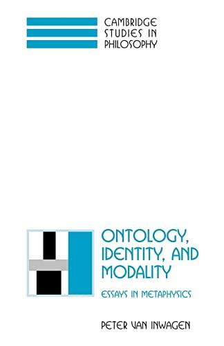 9780521795487: Ontology, Identity, and Modality: Essays in Metaphysics