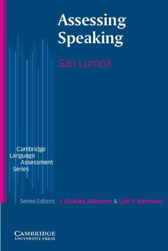 9780521800525: Assessing Speaking (Cambridge Language Assessment)