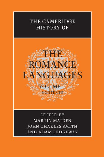 9780521800730: The Cambridge History of the Romance Languages: Volume 2, Contexts