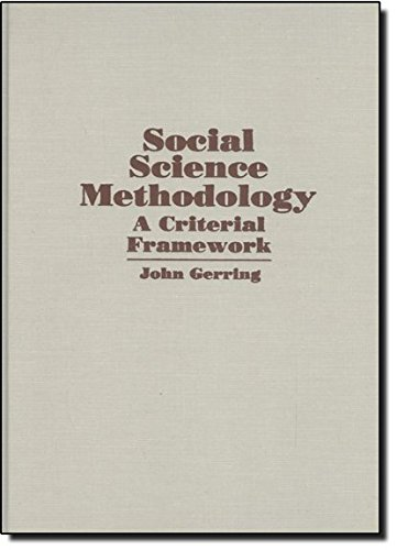 9780521801133: Social Science Methodology: A Criterial Framework