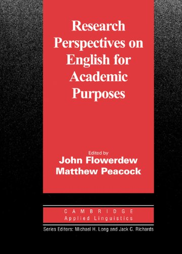 9780521801300: Research Perspectives on English for Academic Purposes (Cambridge Applied Linguistics)