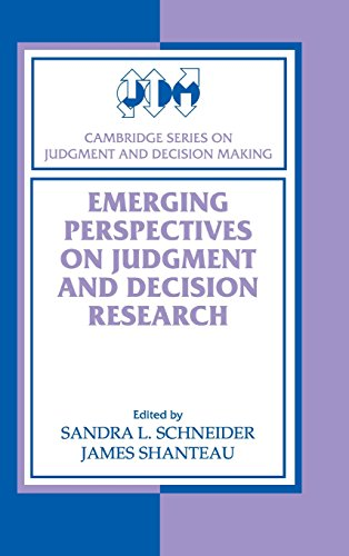 9780521801515: Emerging Perspectives on Judgment and Decision Research (Cambridge Series on Judgment and Decision Making)