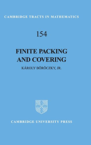9780521801577: Finite Packing and Covering (Cambridge Tracts in Mathematics)