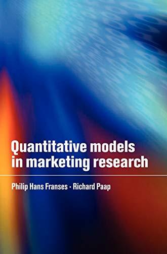 9780521801669: Quantitative Models in Marketing Research