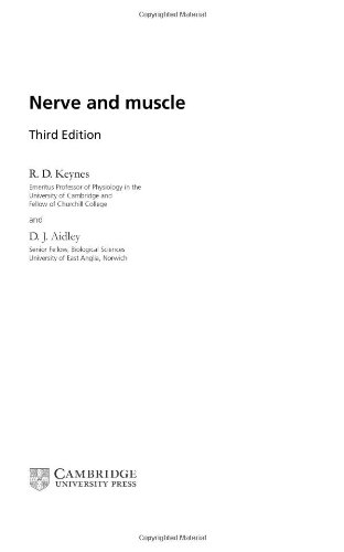 9780521801720: Nerve and Muscle (Studies in Biology)
