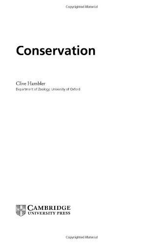 9780521801904: Conservation (Studies in Biology)