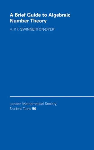 9780521802925: A Brief Guide to Algebraic Number Theory (London Mathematical Society Student Texts)