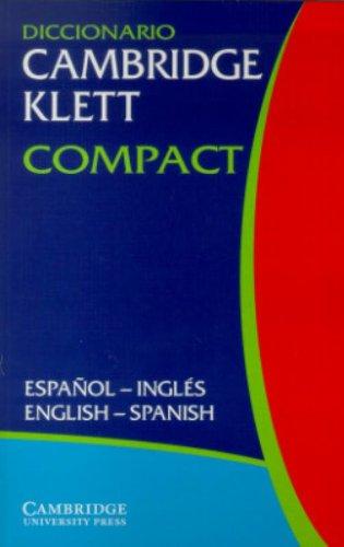 9780521802987: Diccionario Cambridge Klett Compact Español-Inglés/English-Spanish (English and Spanish Edition)