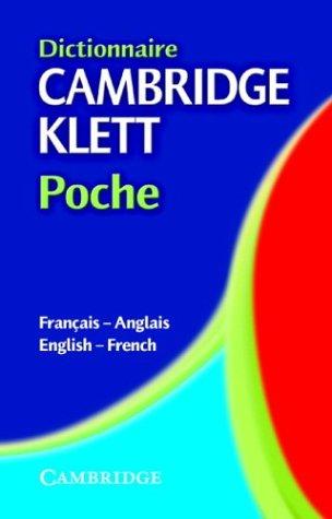 9780521803014: Dictionnaire Cambridge Klett Poche Français-Anglais/English-French